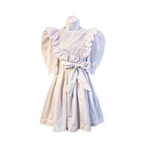 Yves Saint Laurent Vintage White Embroidered Dress